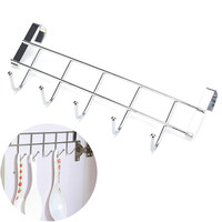 Stainless Steel Bathroom Kitchen Organizer Hanger Hooks With 5-Hook Towel Hat Coat Clothes Cabinet Draw Door Wall Hooks