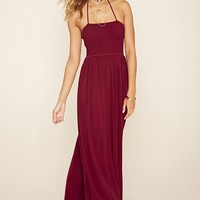 Strappy Halter Maxi Dress