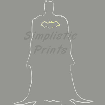 Batman 8x10, 11x14, 13x19 minimalist print, wall art