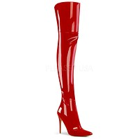 "3012 Thigh High Boots Red Patent 5"" Stiletto Heel 6 - 14"