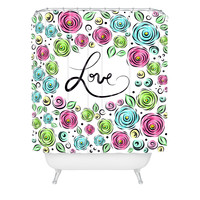 Lisa Argyropoulos Love Blooms Pastel Shower Curtain