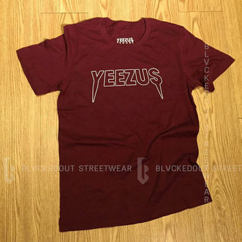 Yeezus Tour Maroon Kanye West T-Shirt / Yeezy / Yeezus Merch / Yeezus Tour / Season 3