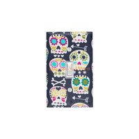 Sugar Skull Light Switch Plate Cover / Standard / Day of the Dead / Single Toggle / Bonehead by Michael Miller