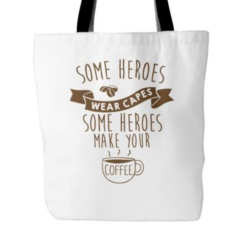 """Some Heroes Wear Capes Tote Bag, 18"""" x 18"""""""