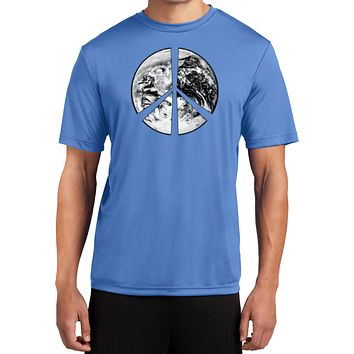 Buy Cool Shirts Peace T-shirt Earth Satellite Symbol Moisture Wicking Shirt