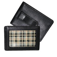 Men's BOCONI 'Tyler' Tumbled Leather Money Clip - Black
