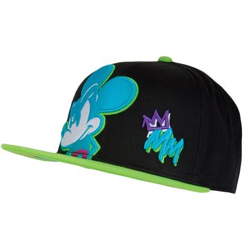 Mickey Mouse - Neon Evil Grin Snapback Cap