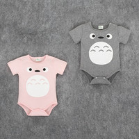 New 2016 Lovely chinchillas short sleeved cotton baby clothes high quality newborn baby boy and girl jumpsuit infant clothing