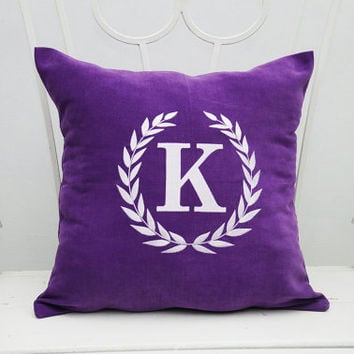 Decorative Pillows With Monogram : Monogram Pillow Covers Nautical Anchor from ComfortDecorHouse on