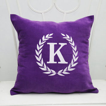 Monogram Pillow Covers Custom Pillowcase Personalized Name Initial Decorative Pillow Cover Home Decor Monogrammed Throw Pillows Gift V7