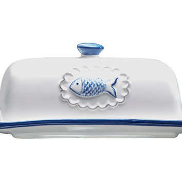 San Remo Ceramic Butter Dish, Butter Dishes