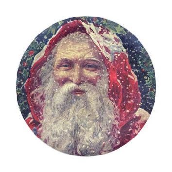 Vintage Santa in the Snow Paper Plate 7 Inch Paper Plate