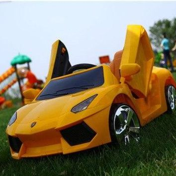 Children Electric Car Ride on Car Four-wheel Remote Control Toy Car Kids Ride on Toys LED Rechargable Boys RC Cars
