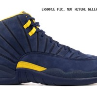 BC DCCK2 Nike Air Jordan Retro 12 RTR Michigan College Navy Amarillo BQ3180-407