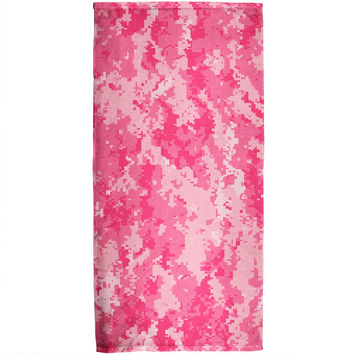 Pink Digital Camo  All Over Bath Towel