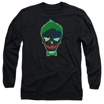 Suicide Squad - Joker Skull Long Sleeve Adult 18/1 Officially Licensed Shirt