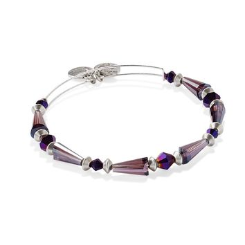 Royal Purple Majestic Spirit Beaded Bangle