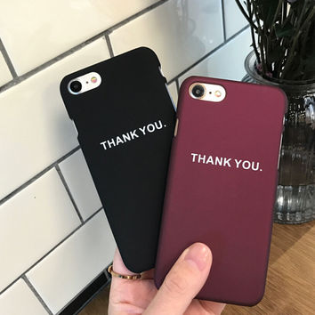 Thank You Case for iPhone 7 7Plus & iPhone se 5s 6 6 Plus High Quality Cover +Gift Box