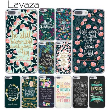 Lavaza Bible Philippians Jesus Christ Christian Verse Colors Hard Phone Case for Apple iPhone 8 7 6 6S Plus X 10 5 5S SE 5C 4 4S