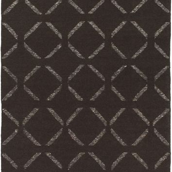Stallman Geometric Area Rug Brown