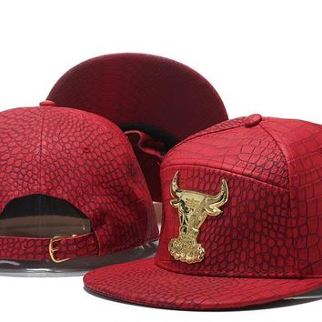 bc1c15ee379 Perfect NBA Chicago Bulls Snapback hats Women Men Embroidery Spo