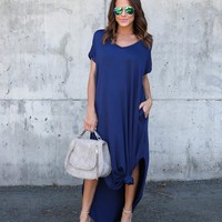 Summer Beach Long Dress Casual Women Maxi Dresses