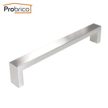Probrico 10 Pcs 10Mm*20Mm Square Bar Handle Stainless Steel Hole Spacing 192Mm Cabinet Door Knob Drawer Pull Pddj30Hss192