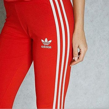Adidas Originals Three Stripe Legging In Navy Blue-2