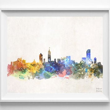 Medellin Skyline, Colombia, Cityscape, Latin America, Cute, Colombian, City Painting, Poster, Illustration, Print, Watercolor [NO 567]
