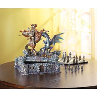 Dragon & Knight Decorative Chess Set
