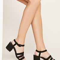 Faux Suede Strappy Sandals | Forever 21 - 2000160599