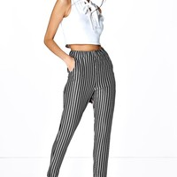 Carmel Skinny Striped Trousers