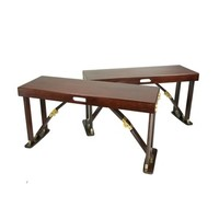 Spiderlegs B3813-M and Crafted Folding Bench Set of 2 in Mahogany
