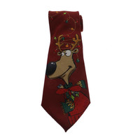 John Ashford Mens Satin Christmas Regular Tie