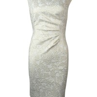 Lauren Ralph Lauren Women's Paisley Jacquard Sheath Dress