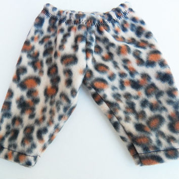 "Bitty Baby Clothes Twin American Girl 15"" Doll Boy Animal Print Polar Fleece Sweatpants, Pj Bottoms, Lounge Pants"