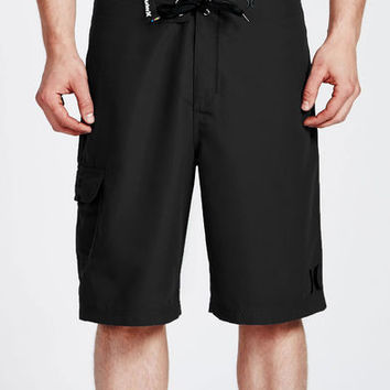 Hurley One & Only Black Drawstring Board Shorts Size 32