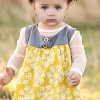 Persnickety Yellow Avery Top