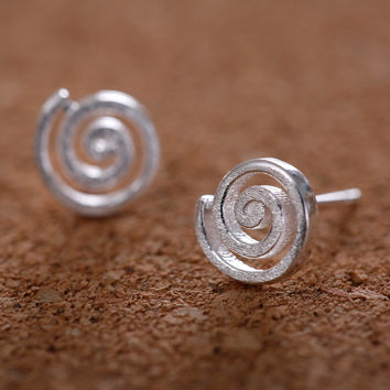 Innovative 925 Silver Simple Design Couple Gifts Earrings [8026211015]