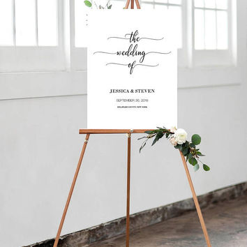 Calligraphy Welcome Sign, Wedding Welcome Sign, Custom Welcome Sign, The Wedding Of Welcome Sign, Modern Wedding Sign, Welcome Sign Poster