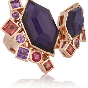 Stephen Webster - Gold Struck Crystal Haze 18-karat rose gold multi-stone ring