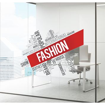 Wall Decal Fashion Clothes Brand Office Business Colored Interior Decor zc018
