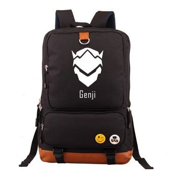 Anime Backpack School New Game OW Genji Backpack Student School Bags Bookbag Cosplay kawaii cute Unisex Shoulder Travel Laptop Bags Casual Bags 6 Color AT_60_4