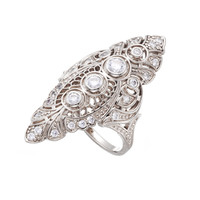 Julia Failey Eco Friendly Jewelry - Silver Art Deco Filigree Ring,