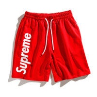 Supreme 2018 new side printing counter trend shorts