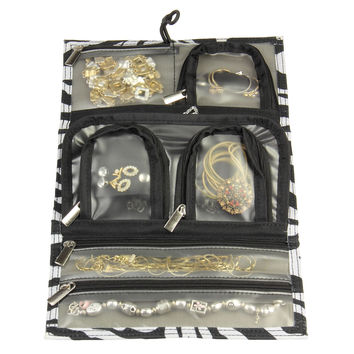 Household Essentials Tri-fold Travel Jewelry Organizer