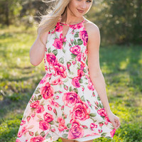 Accept This Rose Dress, Neon Pink