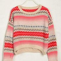 Red Aztec Pullover