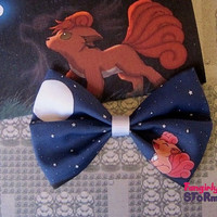 Pokemon Vulpix Hair bow or  Bow tie Handmade  Kawaii Gamer Bow