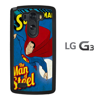 Vintage Superman Man of Steel Z0732 LG G3 Case